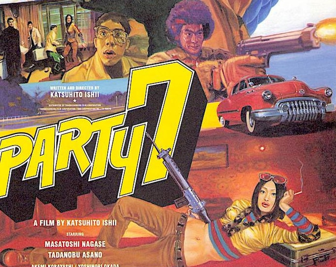 Party 7 (A) | Cult Japan Cinema, Tadanobu Asano, Katsuhito Ishii | 2000 original print | vintage Japanese chirashi film poster
