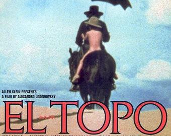 El Topo (A) | 60s Cult Classic, Alejandro Jodorowsky | 1987 print | vintage Japanese chirashi film poster