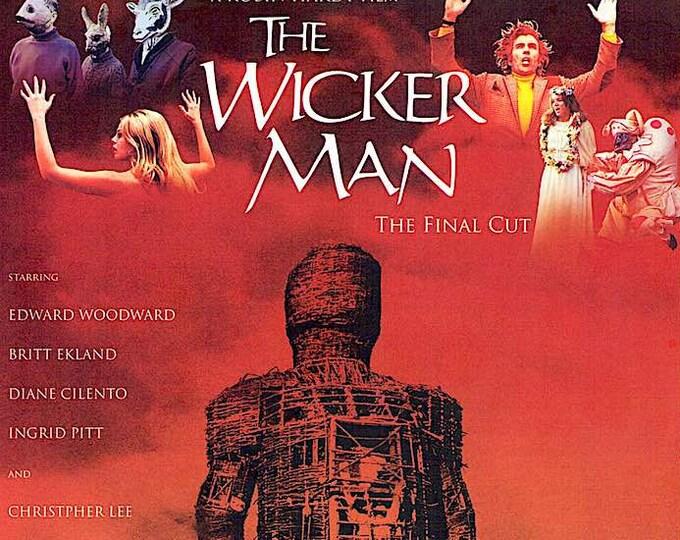 The Wicker Man (B) | 70s UK Cult Classic, Christopher Lee, Britt Ekland | 2020 print, gatefold | Japanese chirashi film poster