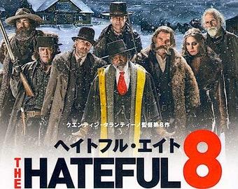 Hateful Eight | Quentin Tarantino, Samuel L Jackson, Kurt Russell | 2016 original print | Japanese chirashi film poster