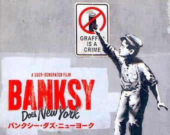 Banksy Does New York | Banksy Documentary, Chris Moukarbel | 2016 original print | Japanese chirashi film poster