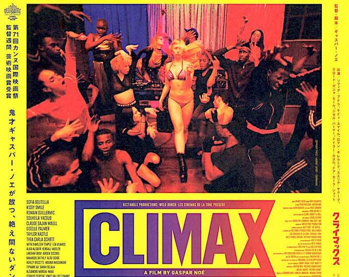 Climax (B) | French Art Cinema, Gaspar Noe | 2019 original print, gatefold | Japanese chirashi film poster
