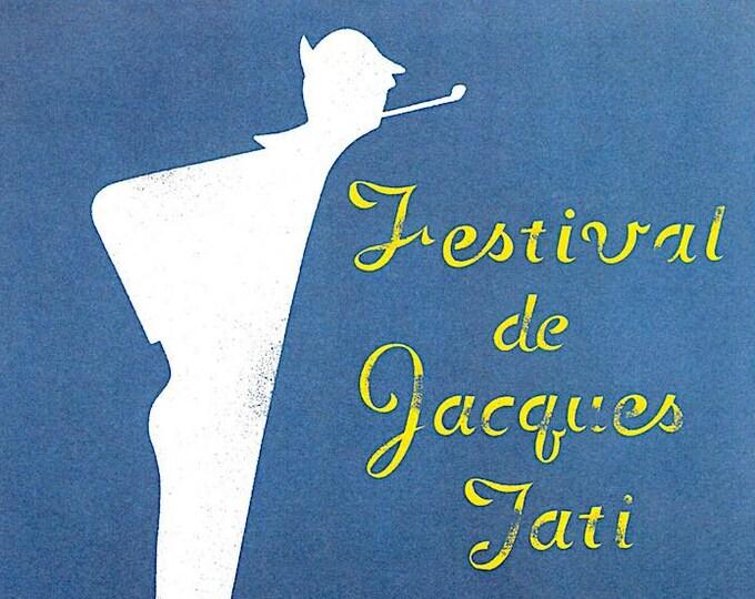 Festival de Jacques Tati | French Cinema Classic, Jacques Tati | 2003 print, gatefold | Japanese chirashi film poster