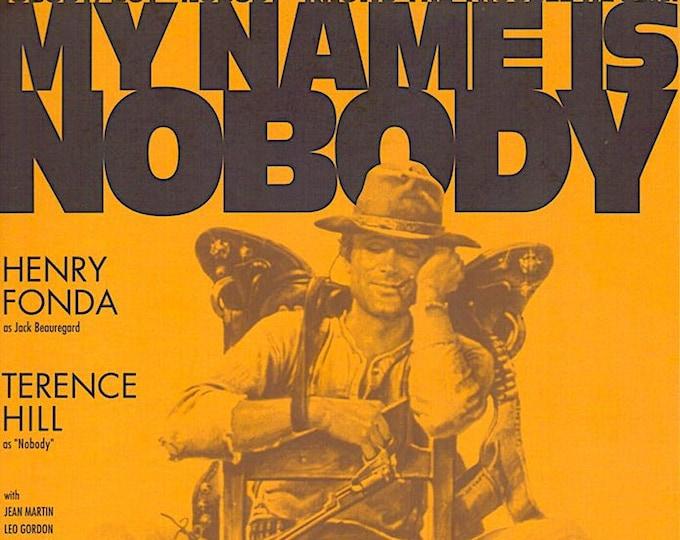 My Name is Nobody (B) | 70s Spaghetti Western, Terence Hill, Henry Fonda | 1996 print | vintage Japanese chirashi film poster