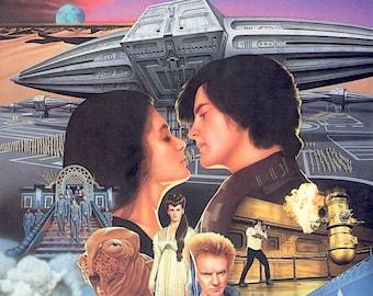 Dune (A) | 80s Cult Classic, David Lynch, Kyle MacLachlan | 1985 original print | vintage Japanese chirashi film poster