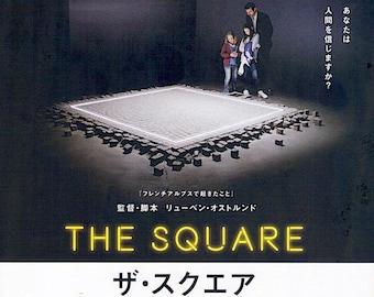 The Square (B) | European Cinema, Ruben Östlund | 2018 original print | Japanese chirashi film poster