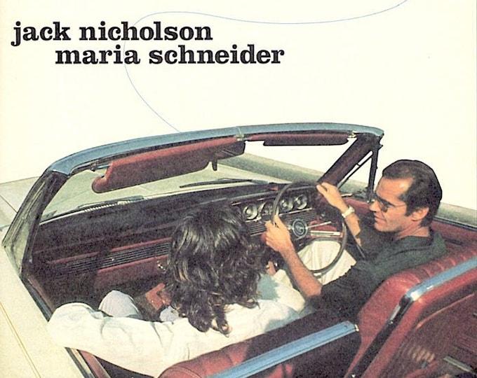 The Passenger (A) | 70s Jack Nicholson, Maria Schneider | 1997 print | vintage Japanese chirashi film poster