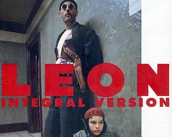 Léon: The Professional | 90s French Classic, Luc Besson, Jean Reno, Natalie Portman | 1996 print | vintage Japanese chirashi film poster