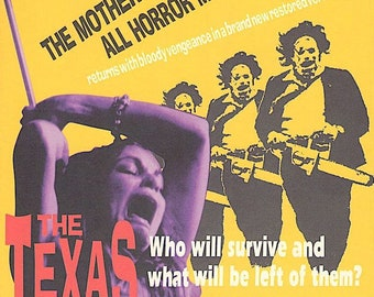 Texas Chainsaw Massacre | 70s Horror Cult Classic | 1997 print | vintage Japanese chirashi film poster