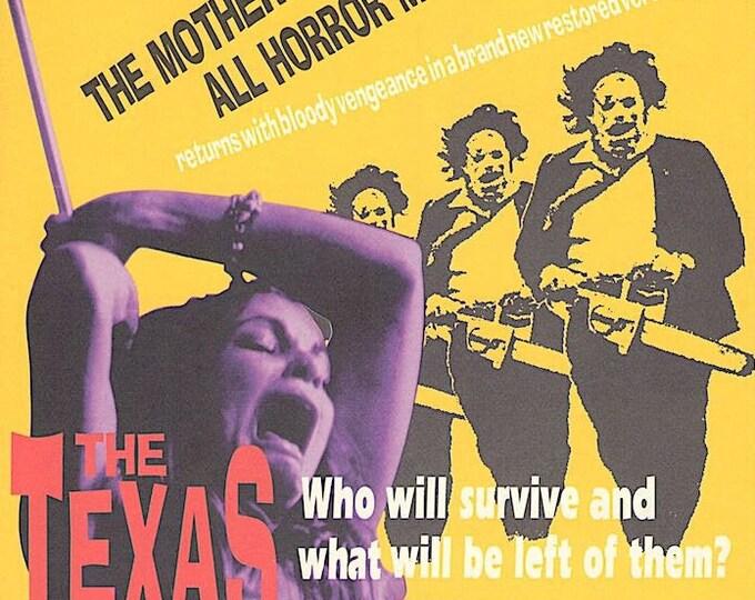 Texas Chainsaw Massacre   70s Horror Cult Classic   1997 print   vintage Japanese chirashi film poster