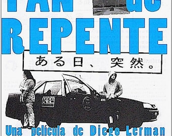 Tan De Repente | Argentine Cinema, Diego Lerman | 2004 original print | Japanese chirashi film poster