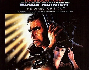 Blade Runner | 80s Cult Classic, Harrison Ford, Ridley Scott | 1992 print | vintage Japanese chirashi film poster