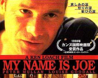 My Name is Joe | 90s British Cinema, Ken Loach | 1999 original print | vintage Japanese chirashi film poster