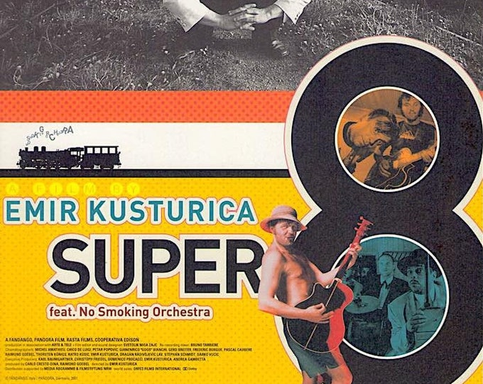Super 8 Stories | Music Documentary, Emir Kusturica | 2002 original print | Japanese chirashi film poster