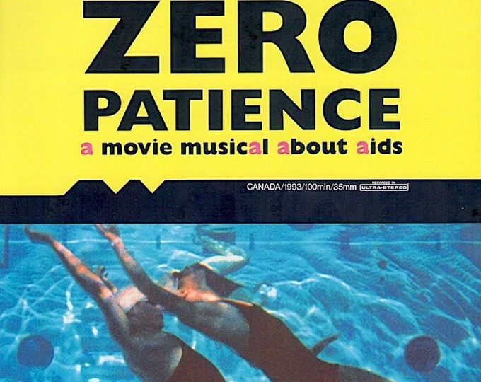 Zero Patience | 90s New Queer Cinema, John Greyson | 1995 original print | vintage Japanese chirashi film poster