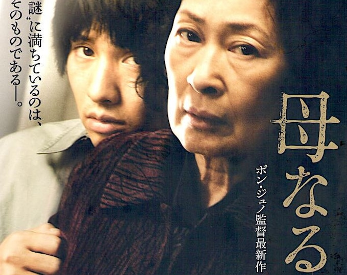 Mother | Korean Cinema, Bong Joon-ho, Won Bin | 2009 original print, gatefold | Japanese chirashi film poster