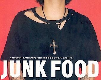 Junk Food | 90s Japan Cinema, Masashi Yamamoto | 1998 original print | vintage Japanese chirashi movie mini poster