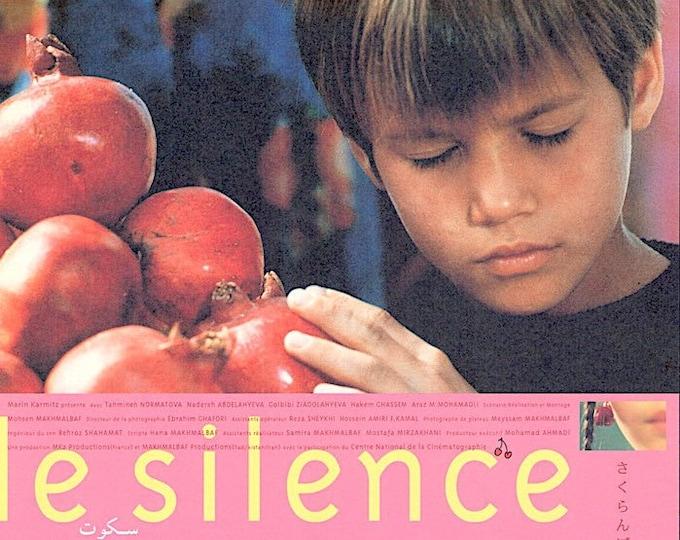 The Silence | 90s Iran Cinema Classic, Mohsen Makhmalbaf | 2000 original print | vintage Japanese chirashi film poster