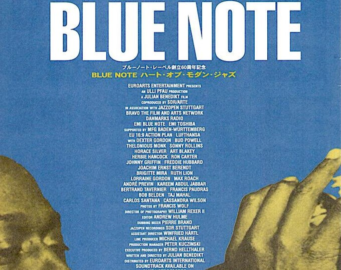 Blue Note - a Story of Modern Jazz | 90s German Documentary | 2000 original print | Japanese chirashi film poster