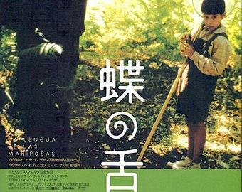 Butterfly's Tongue | 90s Spanish Cinema, Jose Luis Cuerda | 2001 original print | Japanese chirashi film poster