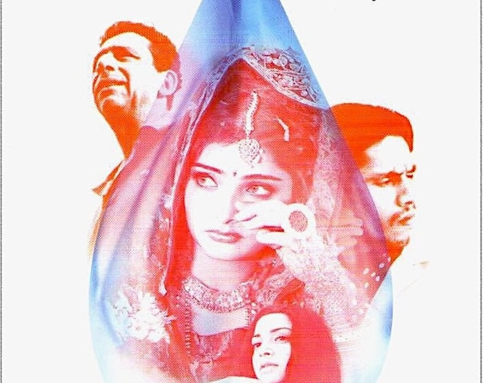 Monsoon Wedding | Indian Cinema, Mira Nair | 2002 original print | Japanese chirashi film poster