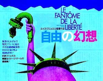 Phantom of Liberty | 70s French Classic, Luis Bunuel | 1984 print | vintage Japanese chirashi film poster