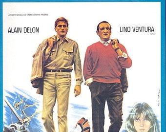 Les Aventuriers | 60s French Classic, Alain Delon | 1995 print | vintage Japanese chirashi film poster