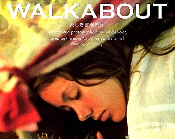 Walkabout (A) | 70s British Classic, Nicolas Roeg, Jenny Agutter | 2004 print | Japanese chirashi film poster