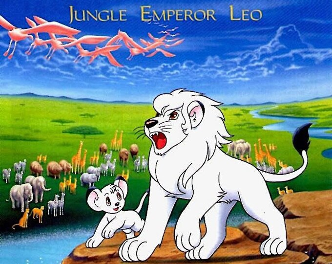 Jungle Emperor Leo (A) | Tezuka Anime Classic | 1997 original print | vintage Japanese chirashi film poster