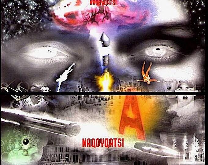 Naqoyqatsi | Qatsi Trilogy, Godfrey Reggio | 2004 original print | Japanese chirashi film poster