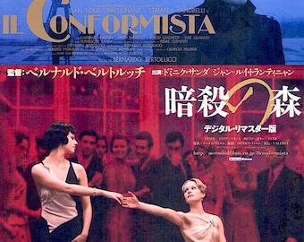 The Conformist (B) | 70s Italian Cinema, Bernardo Bertolucci | 2015 print | Japanese chirashi film poster
