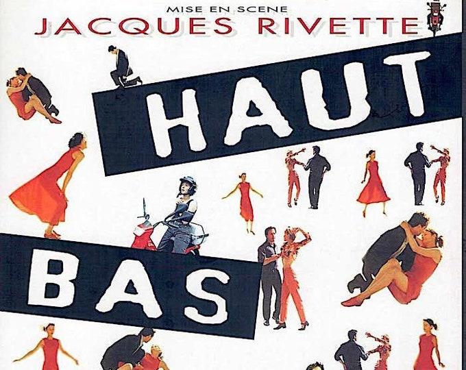 Up, Down, Fragile   90s French Cinema, Jacques Rivette   1996 original print   vintage Japanese chirashi film poster