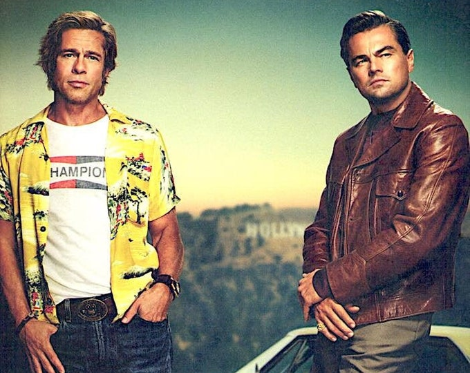 Once Upon a Time in Hollywood (A) | Brad Pitt, Leonardo DiCaprio | 2019 original print | Japanese chirashi film poster