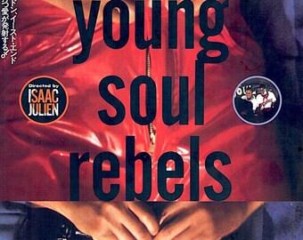 Young Soul Rebels | 90s British Cinema, Isaac Julien, Sophie Okonedo | 1993 original print | vintage Japanese chirashi film poster