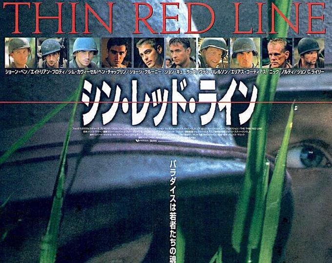 Thin Red Line | 90s Classic, Terrence Malick, Sean Penn | 1999 original print | vintage Japanese chirashi film poster
