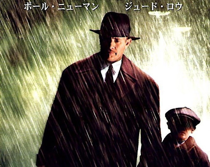 Road to Perdition (A/B) | Tom Hanks, Paul Newman, Jude Law | 2002 original print | Japanese chirashi film poster
