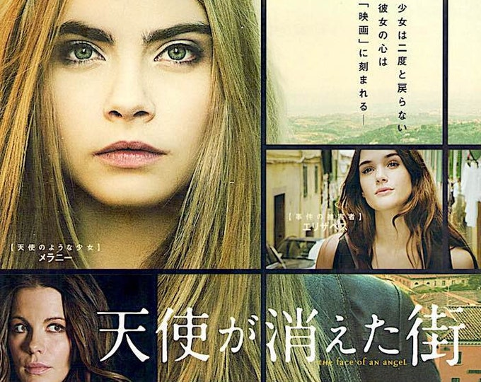 Face of an Angel | British Cinema, Kate Beckinsale, Cara Delevingne | 2015 original print | Japanese chirashi film poster
