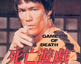 Game of Death (B) | 70s Kung fu Action, Bruce Lee | 1997 print | vintage Japanese chirashi film poster