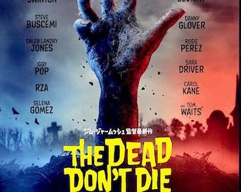 The Dead Don't Die | Jim Jarmusch Zombie Comedy, Adam Driver | 2020 original print | Japanese chirashi film poster