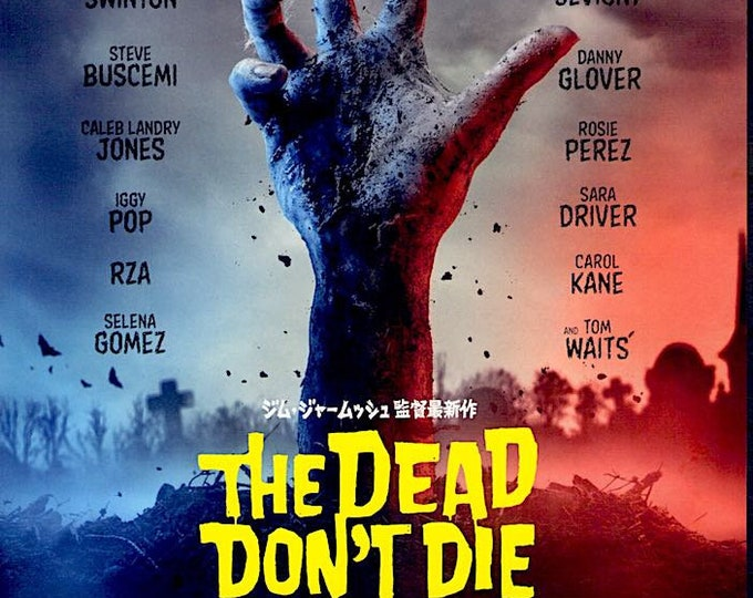 The Dead Don't Die | Jim Jarmusch Zombie Comedy, Adam Driver | 2020 original print | Japanese chirashi film poster