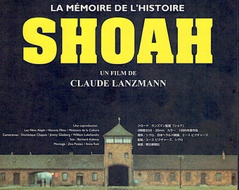 Shoah | 80s Holocaust documentary, Claude Lanzmann | 2015 print | Japanese chirashi film poster