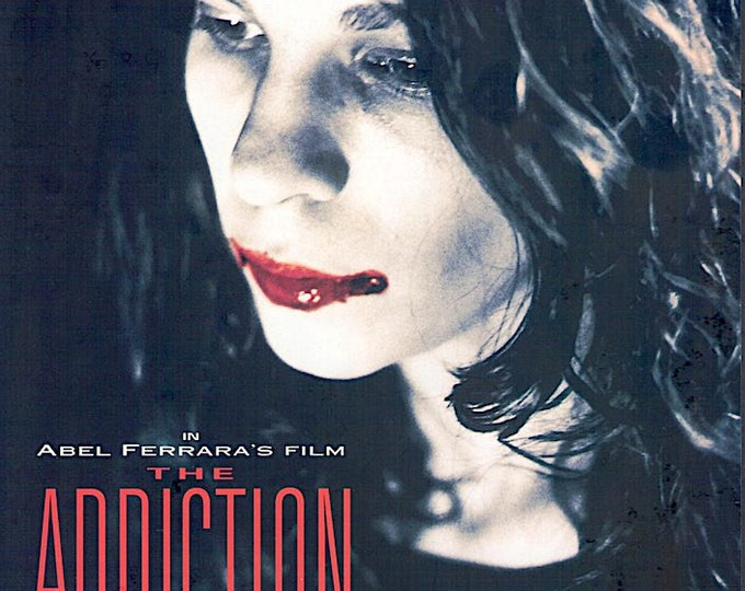 The Addiction | 90s US Horror, Lili Taylor, Abel Ferrara | 1997 original print | vintage Japanese chirashi film poster