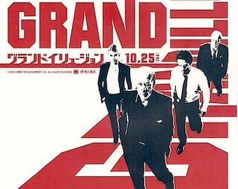 Now You See Me (B) | Michael Caine, Mark Ruffalo, Mélanie Laurent | 2013 original print | Japanese chirashi film poster
