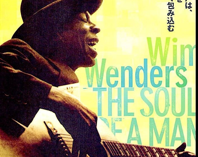 Soul of a Man | Blues Music documentary, Wim Wenders, Martin Scorsese | 2004 original print | Japanese chirashi film poster