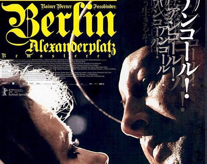 Berlin Alexanderplatz   80s German Cult Classic, Rainer Werner Fassbinder   2013 print   Japanese chirashi film poster