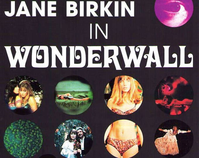 Wonderwall | 60s British Cinema, Jane Birkin | 1996 print | vintage Japanese chirashi film poster