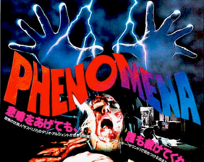Phenomena   80s Italian Horror, Dario Argento   1985 original print   vintage Japanese chirashi film poster
