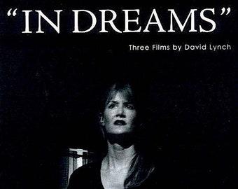 In Dreams | David Lynch Retrospective, Laura Dern |  2007 original print | Japanese chirashi film poster