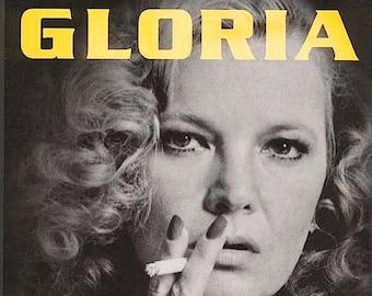 Gloria   80s Classic, Gena Rowlands, John Cassavetes   1999 print   vintage Japanese chirashi film poster