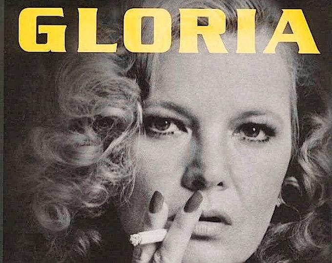 Gloria | 80s Classic, Gena Rowlands, John Cassavetes | 1999 print | vintage Japanese chirashi film poster